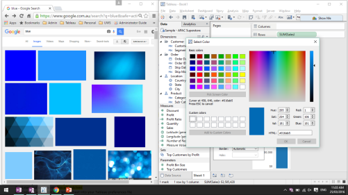 Colour Picker double screen
