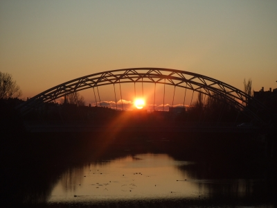 Not a beach, but at least a bridge with a sunrise...