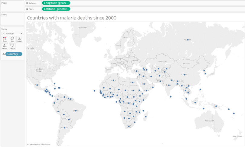 Malaria deaths - all countries