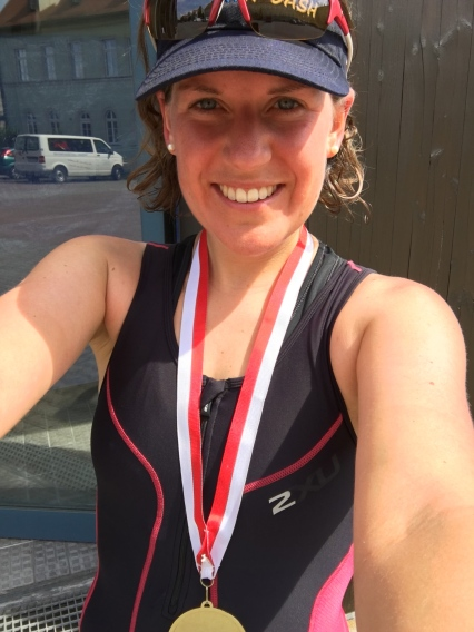 My first sprint triathlon age group win
