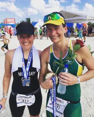 with my friend Natasha from team Australia
