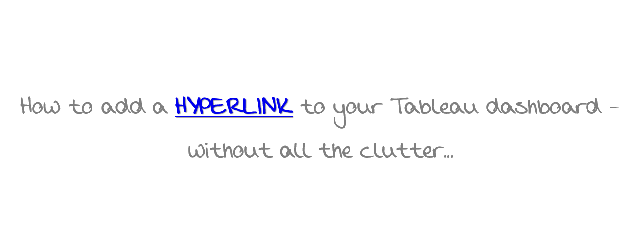 How to add short hyperlinks to your Tableau workbook – Tri